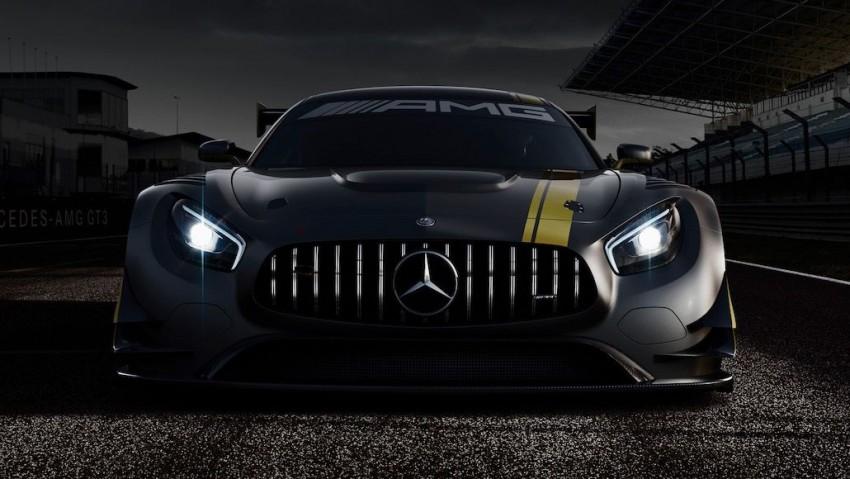Mercedes-AMG GT3 racer teased, track debut in 2016 Image #313554