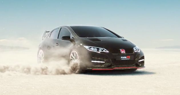 video 2015 honda civic type r revealed in full. Black Bedroom Furniture Sets. Home Design Ideas