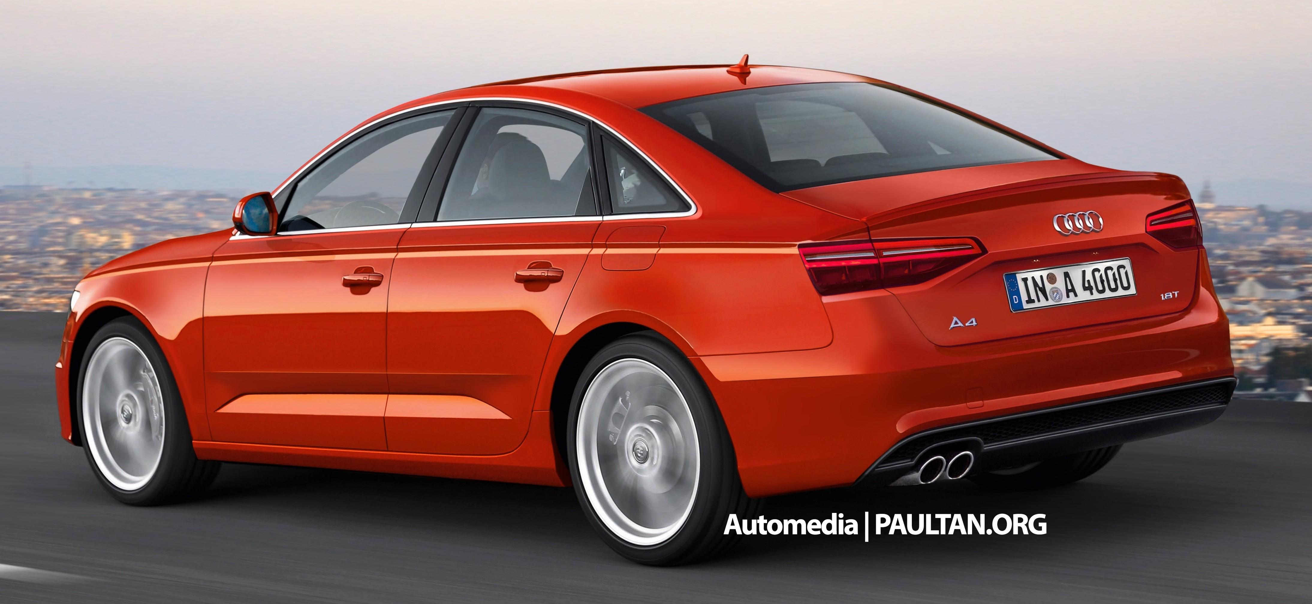 Audi A4 B9 Rendered 2015 Frankfurt Debut Likely Image 310916