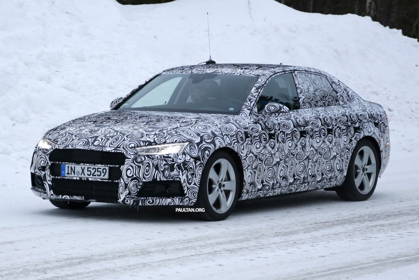 SPYSHOTS: Audi A4 B9 shows its head and tail lamps Image #310335