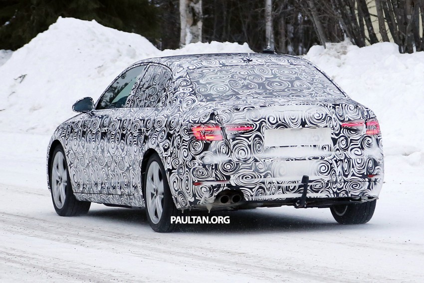SPYSHOTS: Audi A4 B9 shows its head and tail lamps Image #310339