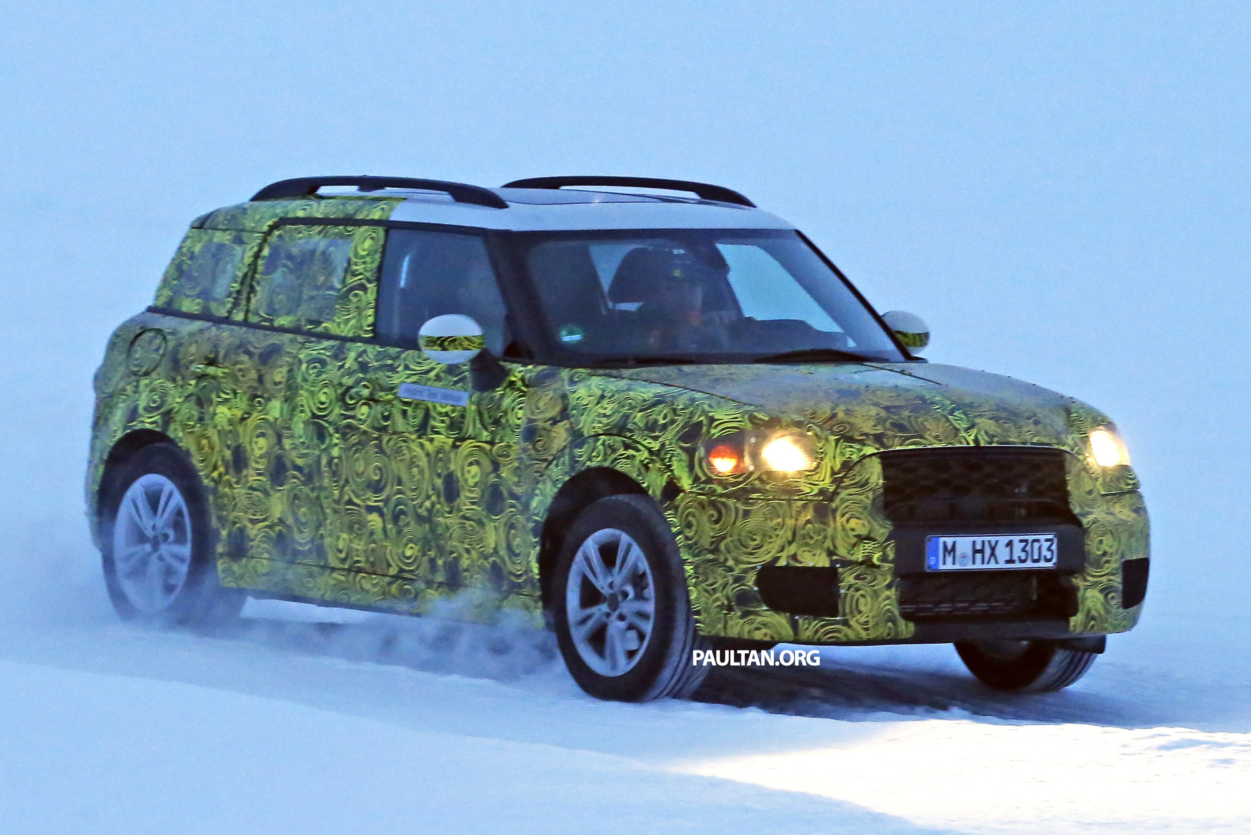 spied f60 mini countryman hybrid seen inside out. Black Bedroom Furniture Sets. Home Design Ideas