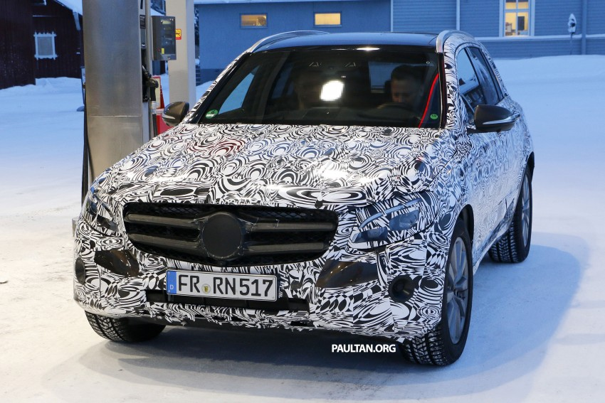 Mercedes-Benz GLC-Class SUV rendered, plug-in hybrid variant spied cold weather testing Image #314984