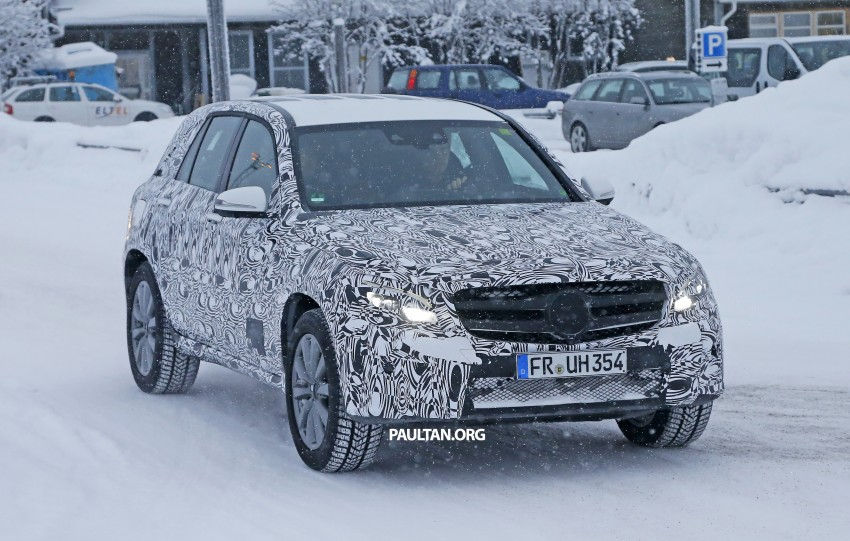 Mercedes-Benz GLC-Class SUV rendered, plug-in hybrid variant spied cold weather testing Image #312377
