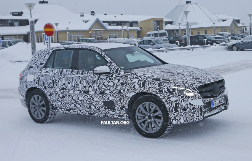 Mercedes-Benz GLC-Class SUV rendered, plug-in hybrid variant spied cold weather testing Image #312371