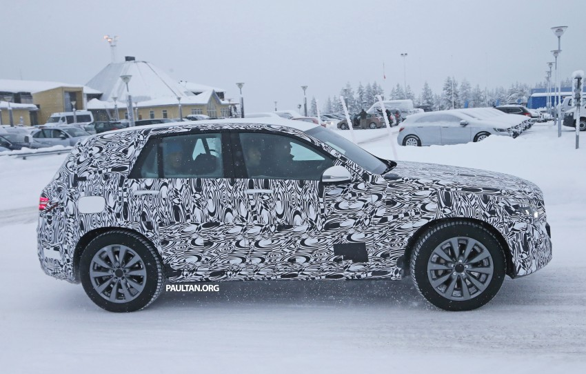Mercedes-Benz GLC-Class SUV rendered, plug-in hybrid variant spied cold weather testing Image #312370