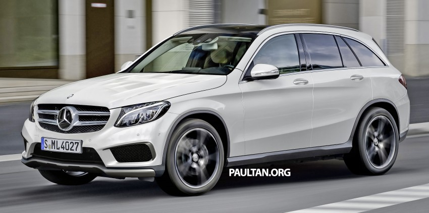 Mercedes-Benz GLC-Class SUV rendered, plug-in hybrid variant spied cold weather testing Image #312376