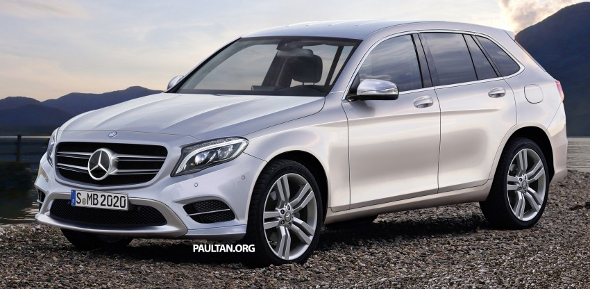 Mercedes-Benz GLC-Class SUV rendered, plug-in hybrid variant spied cold weather testing Image #312369