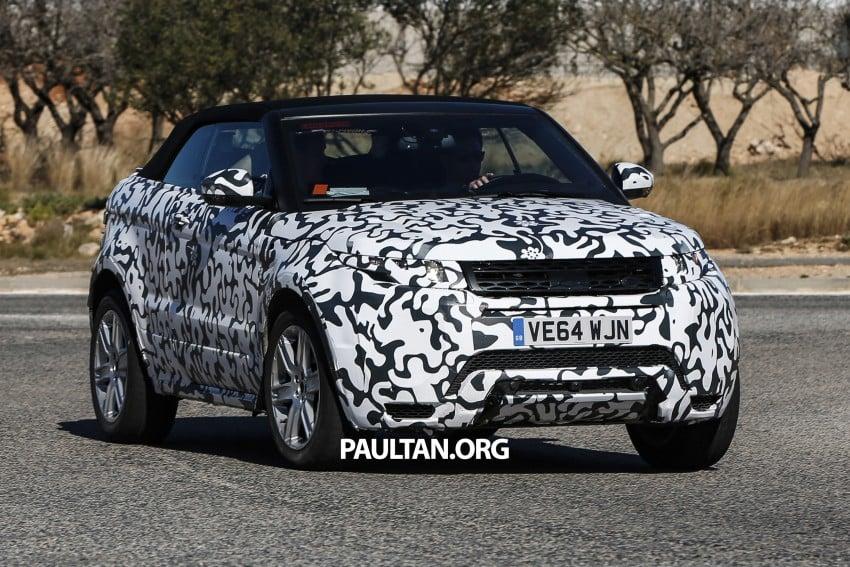 SPIED: Range Rover Evoque Convertible on test Image #310984