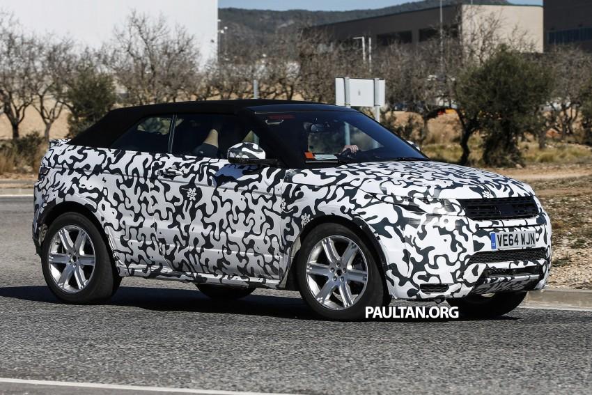 SPIED: Range Rover Evoque Convertible on test Image #310982
