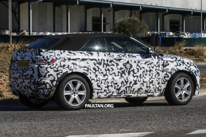 SPIED: Range Rover Evoque Convertible on test Image #310979