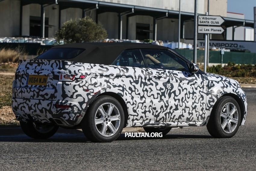SPIED: Range Rover Evoque Convertible on test Image #310980
