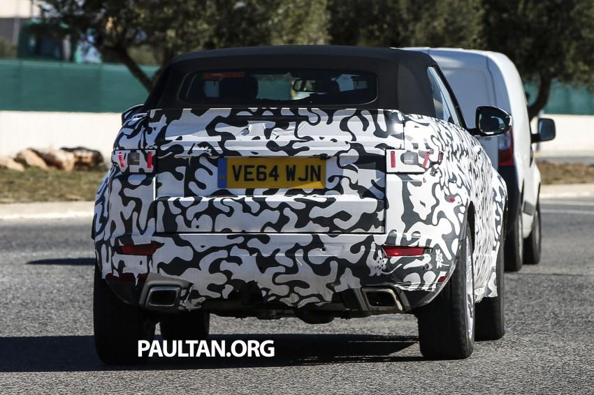 SPIED: Range Rover Evoque Convertible on test Image #310978
