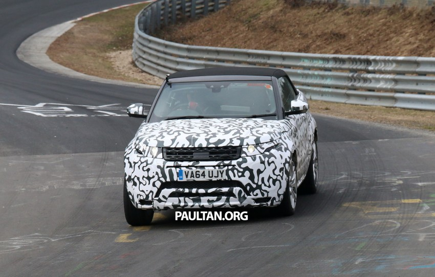 SPIED: Range Rover Evoque Convertible on test Image #322936