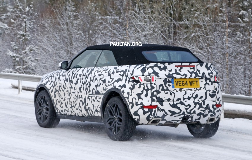 SPIED: Range Rover Evoque Convertible on test Image #322925