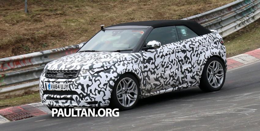SPIED: Range Rover Evoque Convertible on test Image #322928
