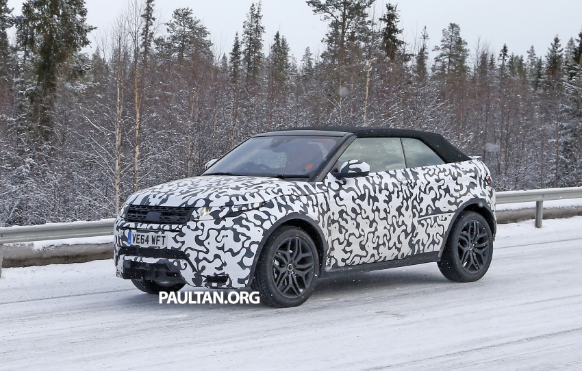 SPIED: Range Rover Evoque Convertible on test Image #322934