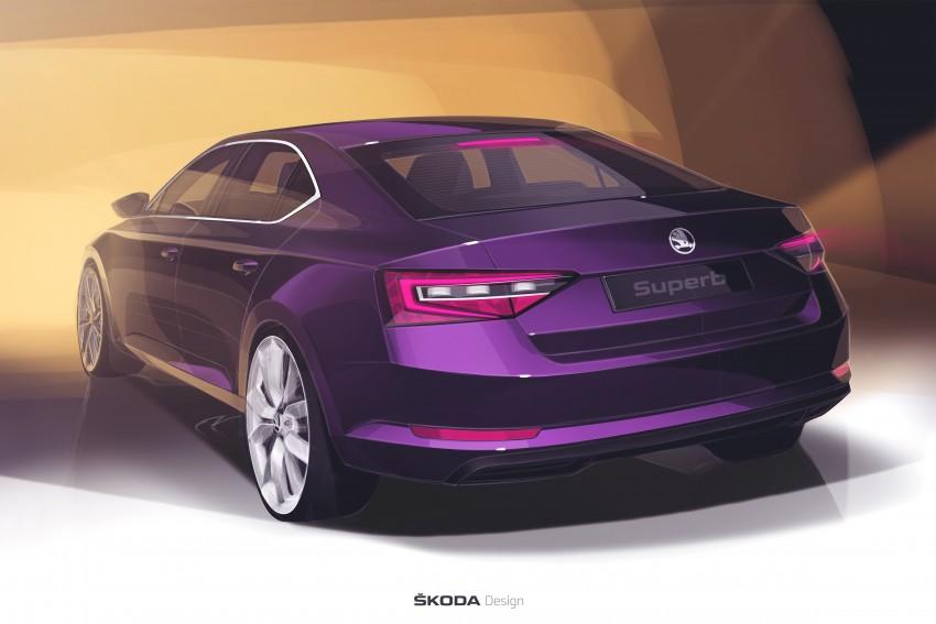 2015 Skoda Superb unveiled – bigger, better inside out Image #312588