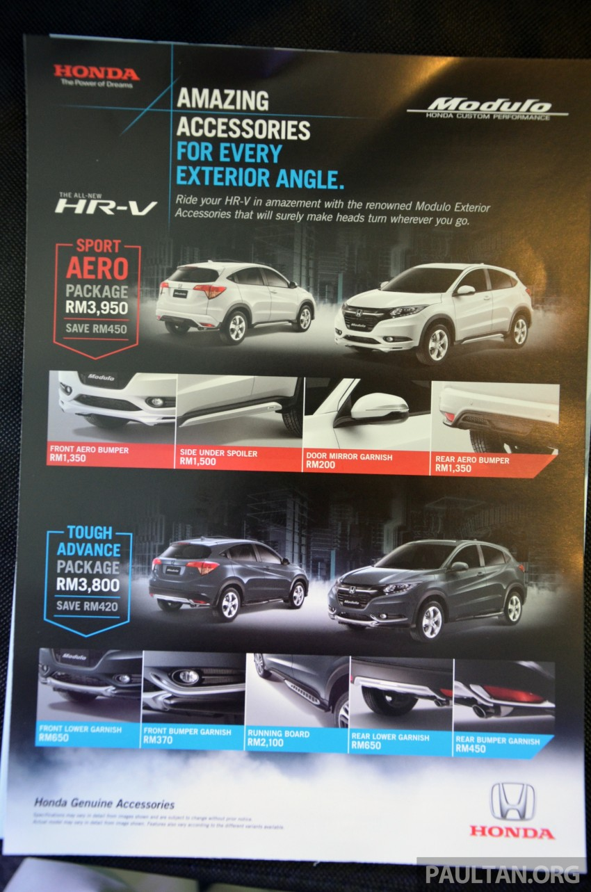 2015 Honda HR-V launched in Malaysia, from RM100k Image #309559