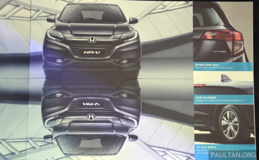 2015 Honda HR-V launched in Malaysia, from RM100k Image #309565