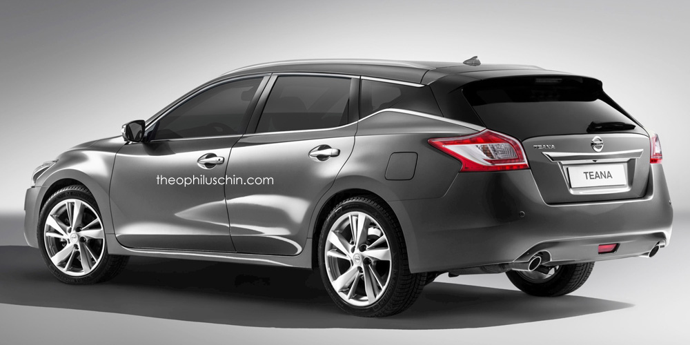 rendered nissan teana wagon by theophilus chin