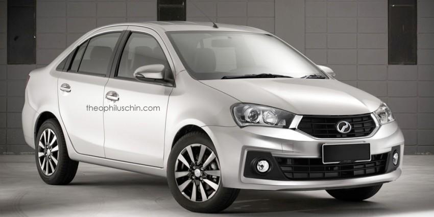 Perodua sedan based on Myvi facelift rendered! Image #310460
