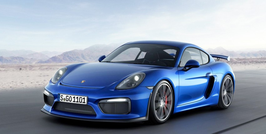 Porsche Cayman GT4 unveiled – 385 hp, manual only! Image #309303