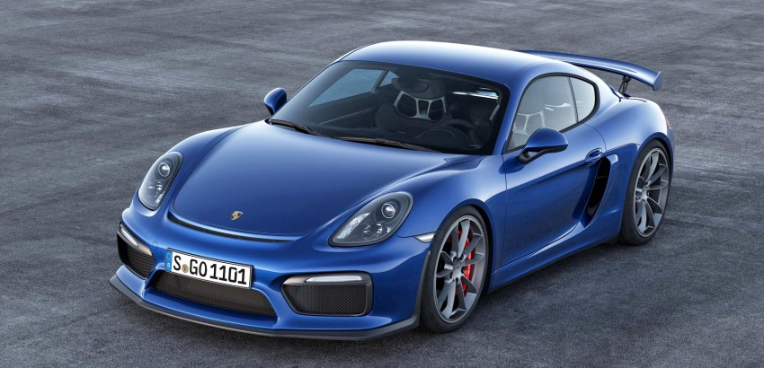 Porsche Cayman GT4 unveiled – 385 hp, manual only! Image #309295