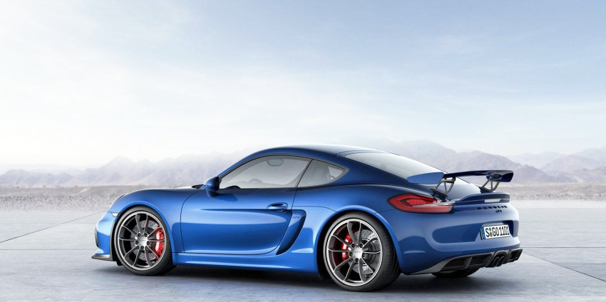 Porsche Cayman GT4 unveiled – 385 hp, manual only! Image #309300