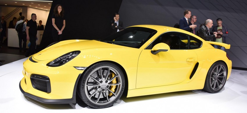 Porsche Cayman GT4 unveiled – 385 hp, manual only! Image #316247