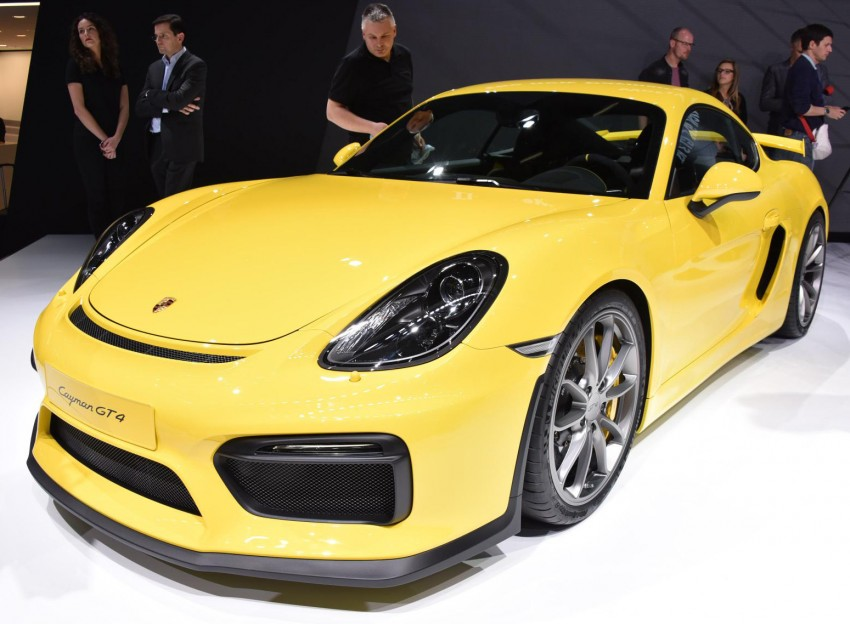 Porsche Cayman GT4 unveiled – 385 hp, manual only! Image #316248