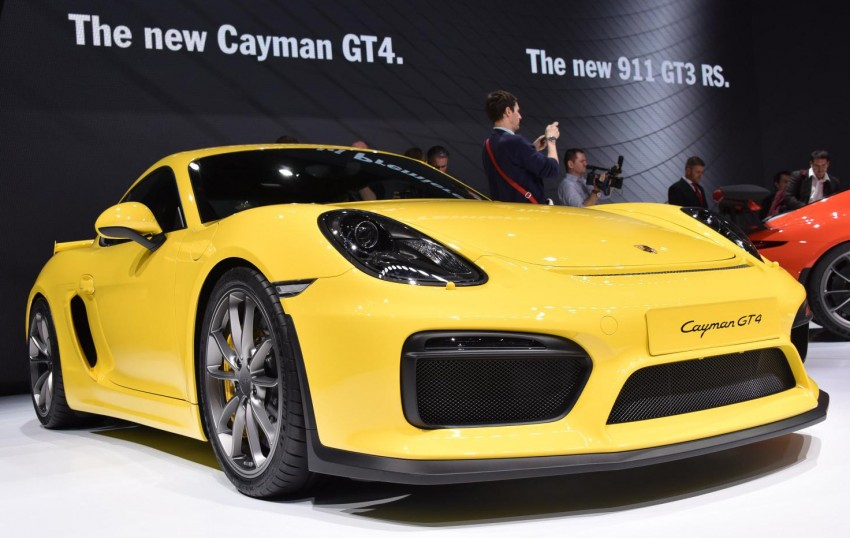 Porsche Cayman GT4 unveiled – 385 hp, manual only! Image #316249