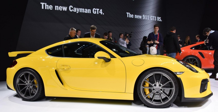 Porsche Cayman GT4 unveiled – 385 hp, manual only! Image #316250