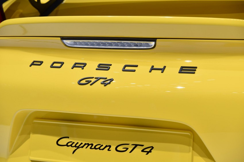 Porsche Cayman GT4 unveiled – 385 hp, manual only! Image #316252