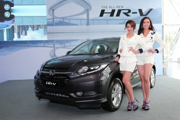 02 Models posing with the All-New HR-V