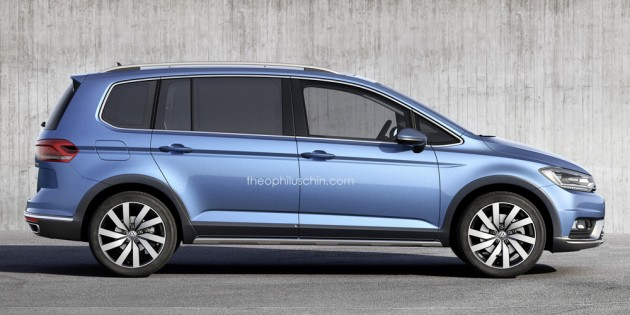 Third-generation Volkswagen Cross Touran rendered