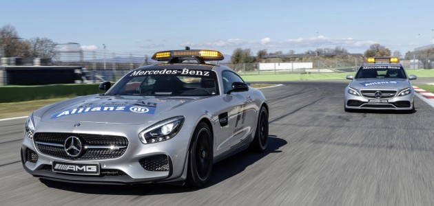 Mercedes-AMG GT S als Official Safety Car und Mercedes-AMG C 63 S T-Modell als Official Medical Car der FIA Formel 1 Weltmeisterschaft™	Mercedes-AMG GT S as Official Safety Car and Mercedes-AMG C 63 S Estate as Official Medical Car of the FIA Formula One World Championship™