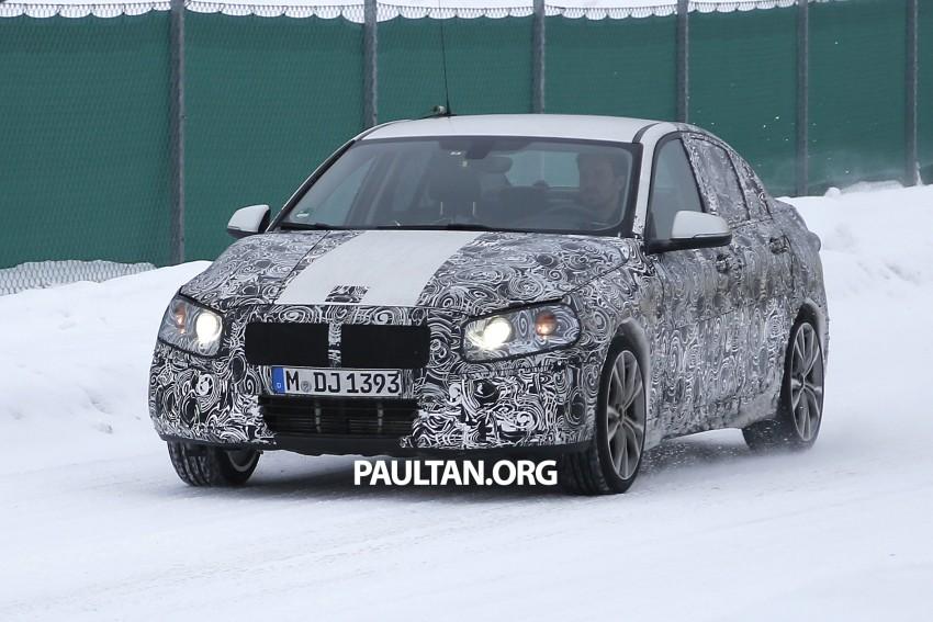 SPIED: F52 BMW 1 Series Sedan testing in the snow Image #316195