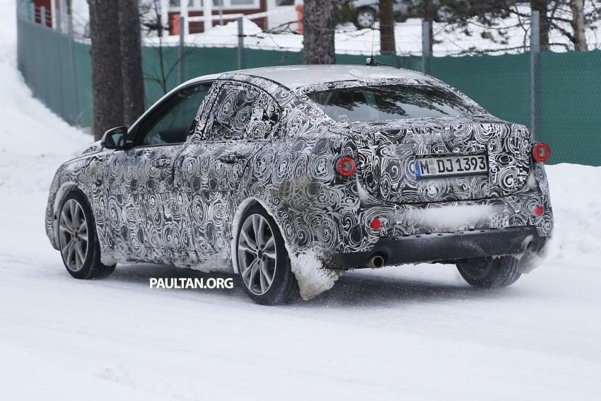 SPIED: F52 BMW 1 Series Sedan testing in the snow Image #316201