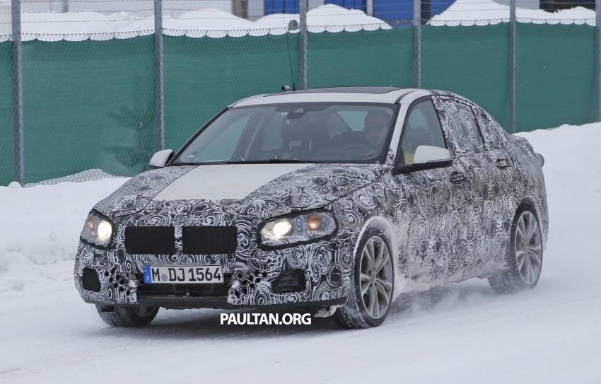 SPIED: F52 BMW 1 Series Sedan testing in the snow Image #316186