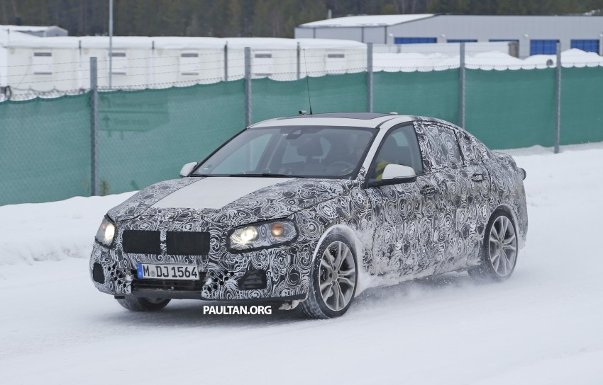 SPIED: F52 BMW 1 Series Sedan testing in the snow Image #316187