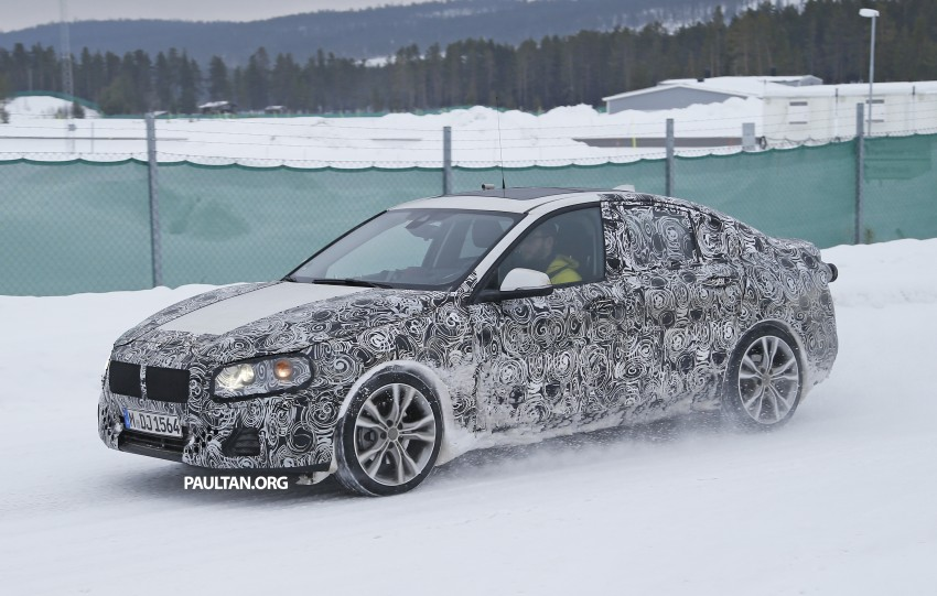 SPIED: F52 BMW 1 Series Sedan testing in the snow Image #316192