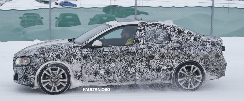 SPIED: F52 BMW 1 Series Sedan testing in the snow Image #316188
