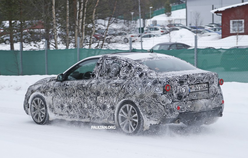 SPIED: F52 BMW 1 Series Sedan testing in the snow Image #316194
