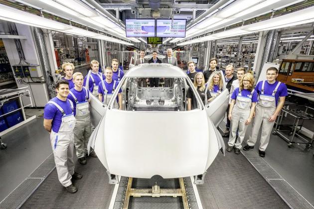 Projekt Woerthersee 2015Auszubildende von Volkswagen entwickeln aus einer Rohkarosserie einen einzigartigen Golf GTI
