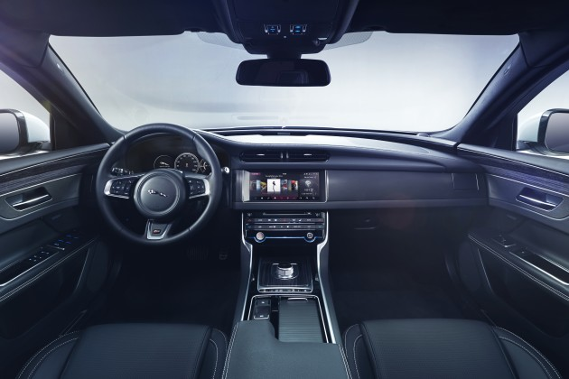 2016 jaguar xf – first interior pic shown, mar 24 debut