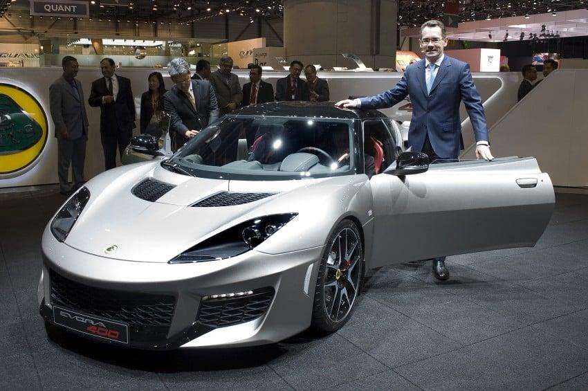 Lotus Evora 400 unveiled in Geneva by Tun Mahathir Image #316227