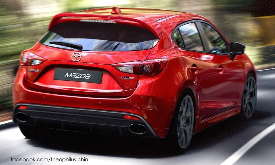 Mazda 3 Mps Rendered Hot Hatch To Revive Mps Badge Paul