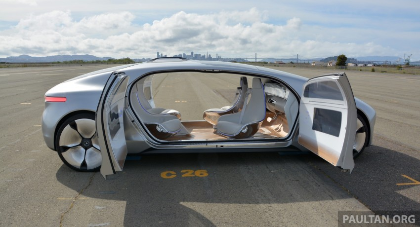 DRIVEN: Mercedes-Benz F 015 Luxury In Motion in SF Image #322149