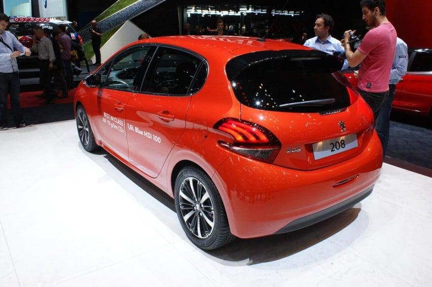 Peugeot 208 facelift shown in Geneva, in M'sia 2016 Image #316974